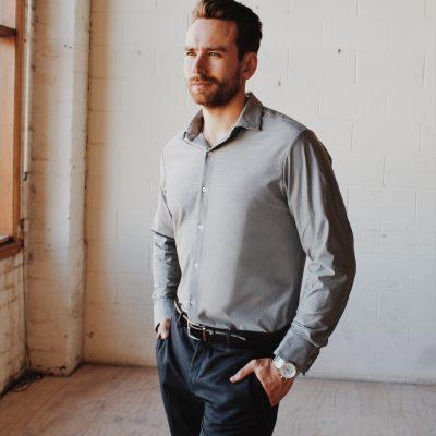 John Miles Dress Shirt Black/white Gingham